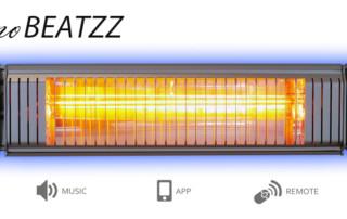 VASNER Appino BEATZZ Infrarot-Heizstrahler Bluetooth mit LED Licht und Musik Lautsprecher