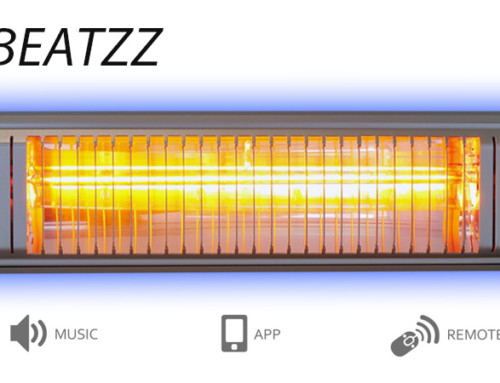 VASNER Appino BEATZZ Infrarot-Heizstrahler Bluetooth mit LED Licht und Musik