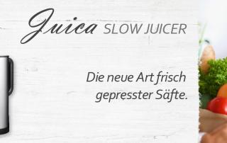 VASNER Juica ist der Premium Entsafter unter den Saftpressen. Mit neuer Slow Juicer Technik.