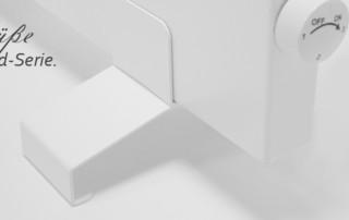Standfüße Hybrid-Infrarotheizung Konvi Serie