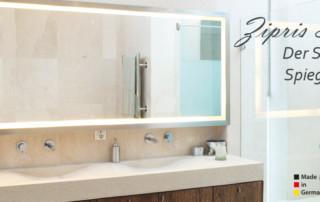 Bad-Spiegelheizung mit LED Licht