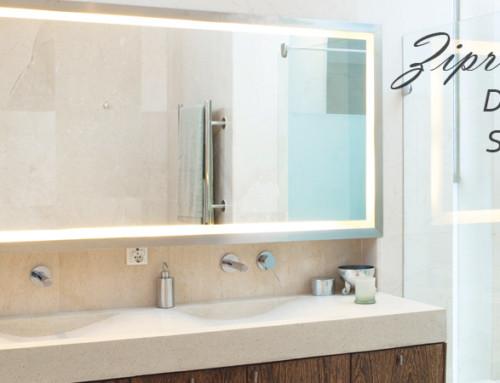 VASNER Zipris S LED Infrarotheizung Spiegel mit LED Licht für das Bad
